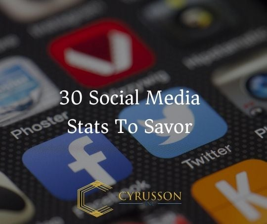 [Infographic] 30 Social Media Stats To Savor