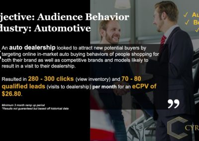 LocalAds Case Study - Auto Dealership | Cyrusson Inc