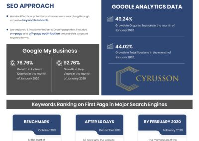 SEO Case Study - Real Estate | Cyrusson Inc
