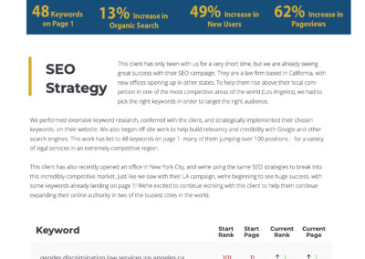 SEO Case Study - Law Firm