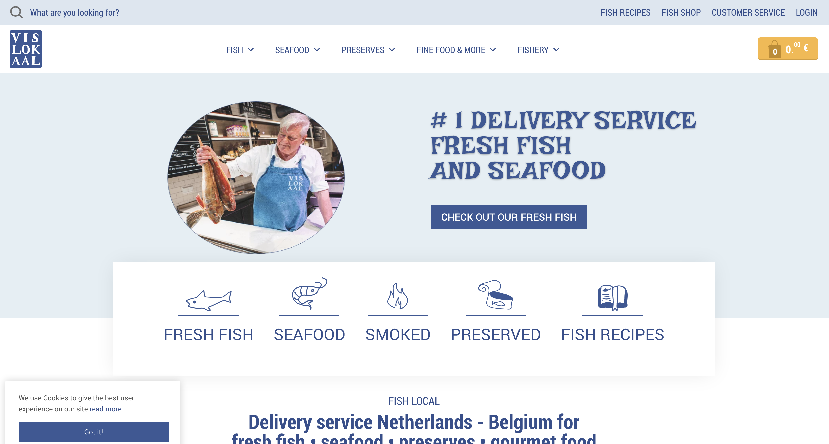 E-Commerce Seafood Delivery