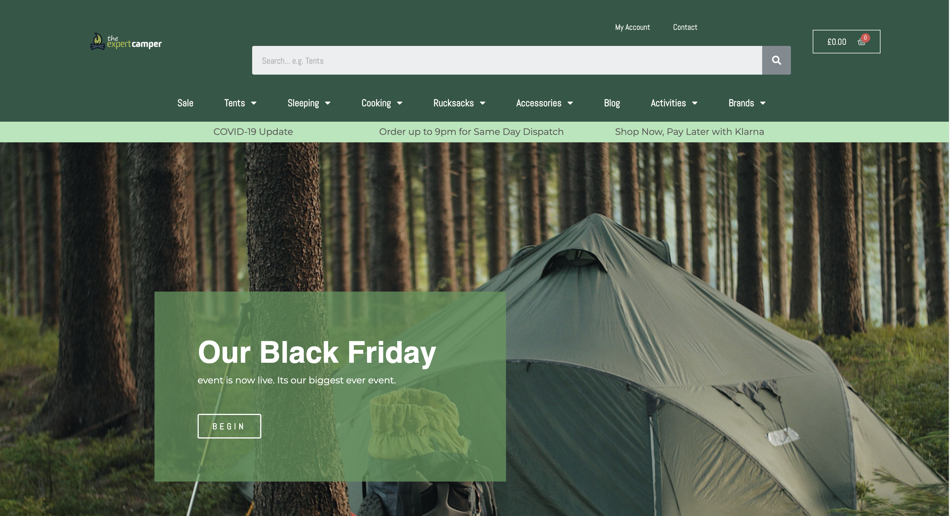 E-Commerce Camping Store