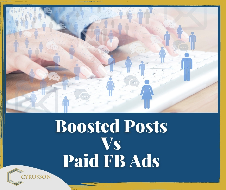 Facebook Advertising Boosted Posts Boost Paid Ads Marketing | Cyrusson