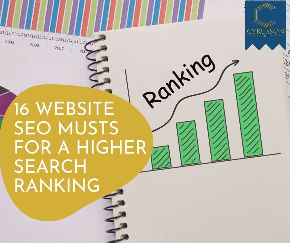 16 Website SEO Musts for a Higher Search Engine Ranking