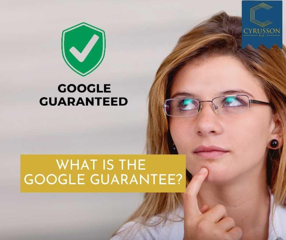 Google Guarantee | Cyrusson
