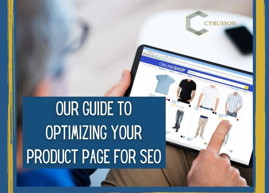 Our Guide to Optimizing Your Product Page for SEO