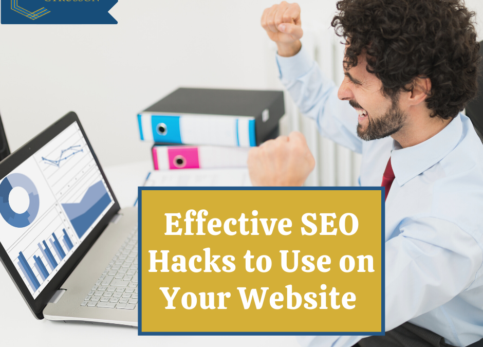 5 Effective SEO Hacks To Use On Your Website